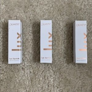 set of three Colourpop lux lipsticks